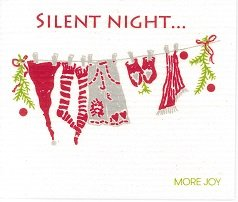 Silent Night dishcloth