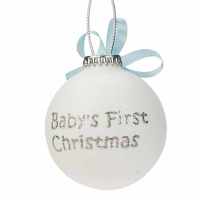 Baby's first christmas decoration blue