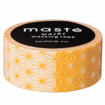 Washi tape Asanoha yellow