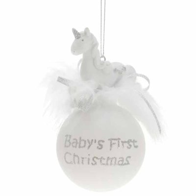 Baby's first christmas decoration Unicorn