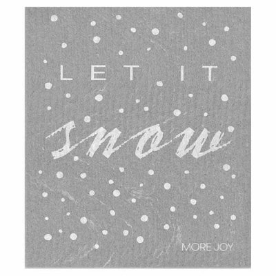Let it snow dish cloth