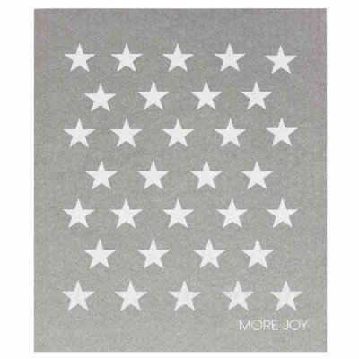White stars dishcloth