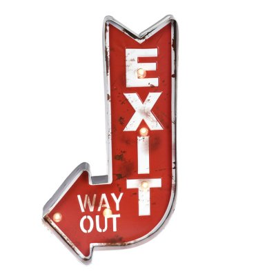 Sign Exit with led lights