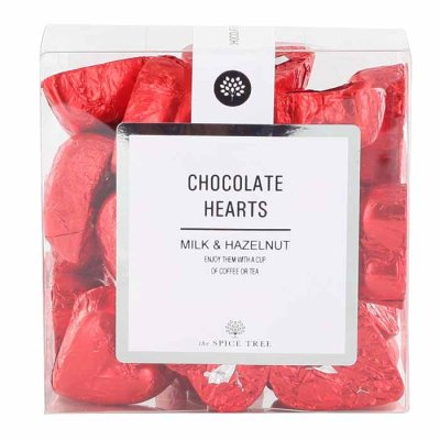 Milk Chocolate Hearts Red 200g