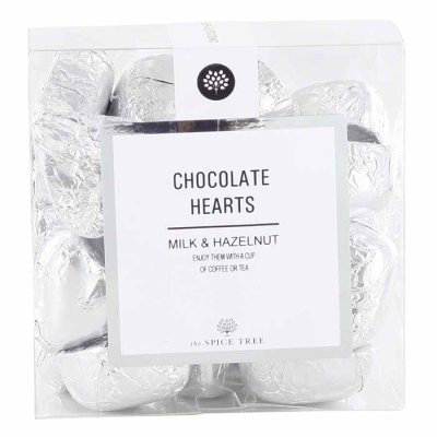 Milk Chocolate Hearts Silver 200g
