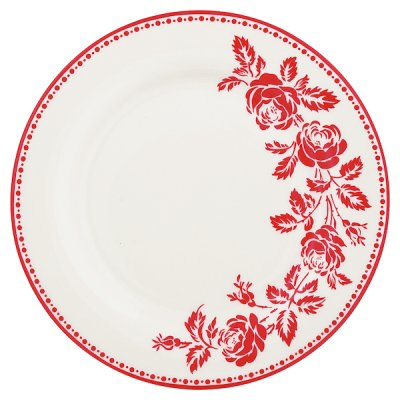 GreenGate Fleur plate red