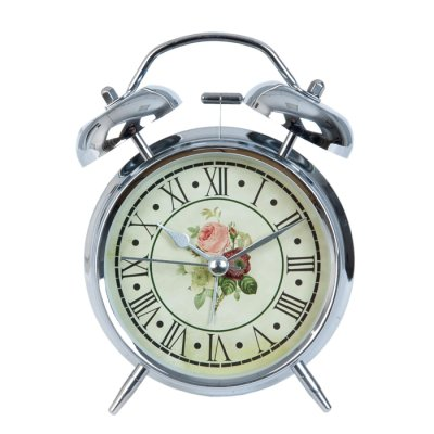 Alarm clock Roses chrome