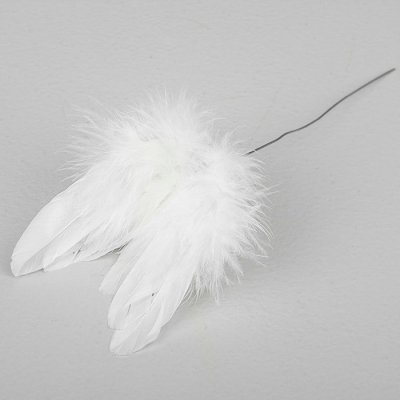Feather wings in stick 8 cm