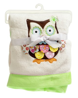 Blanket owl for baby 75x100 cm