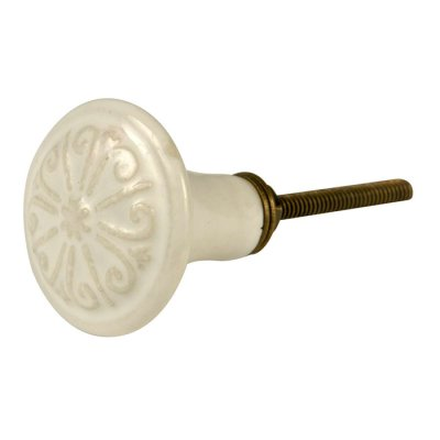 Door knob antique white