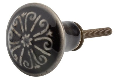 Door knob antique black