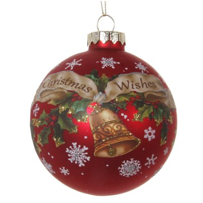 Christmas decoration glass ball Wishes