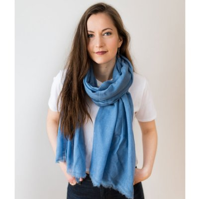 Cashmere Scarf Woven Stone