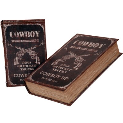 Box book shaped Cowboy, different sizes