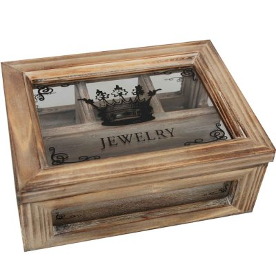 Jewelry box rustic brown