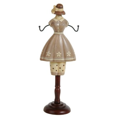 Jewelry stand dress brown