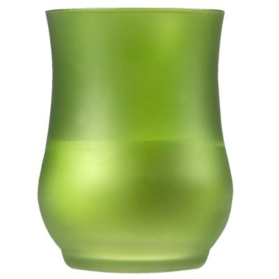 Candle in a glass green