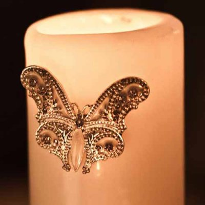 Candle accessory butterfly