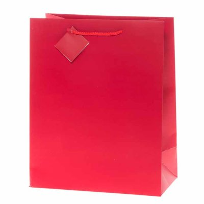 Gift bag red 33 cm