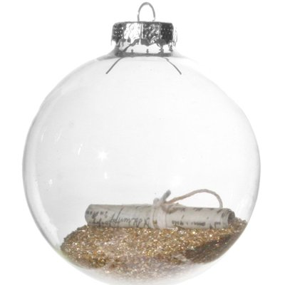 Christmas decoration glass ball letter