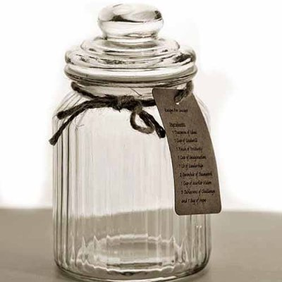 Glass jar 18 cm