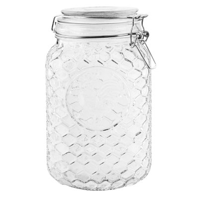 Glass jar honeycomb 19 cm