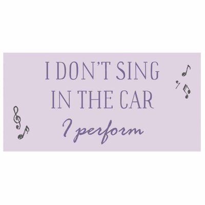 Magnet I don't sing in the car I perform