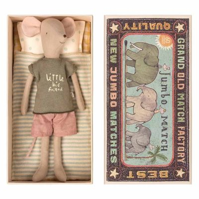 Maileg mouse in box, medium boy
