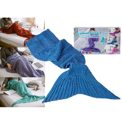 Mermaid blanket blue small