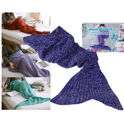 Mermaid blanket dark purple small