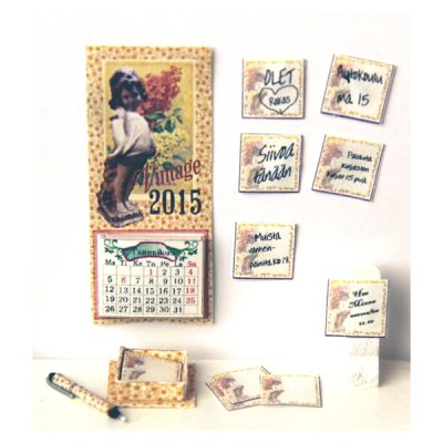 Minihali Calendar and post it notes
