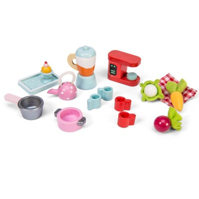 Dollhouse Tea-Time Kitchen Accessory Pack