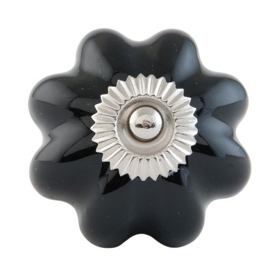 Door knob flower black