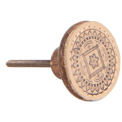 Door knob leather