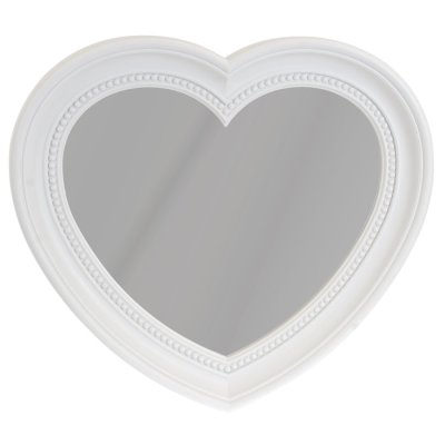 Mirror heart white