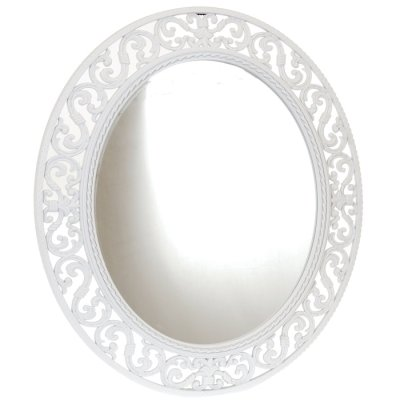 Mirror oval white