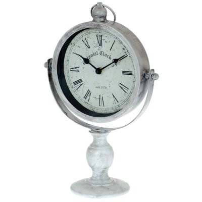Table clock Colonial rustic white