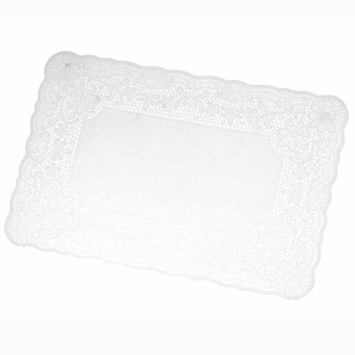 Place mat Lace natural white