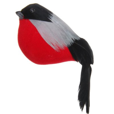 Feather bullfinch hanging 10 cm