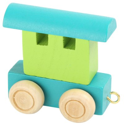 Letter train Waggon blue-green