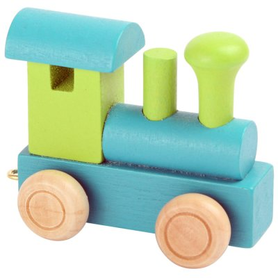 Letter train Locomotive blue-green