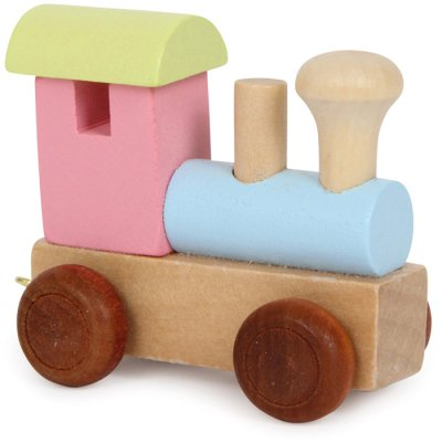 Letter train Locomotive pastel