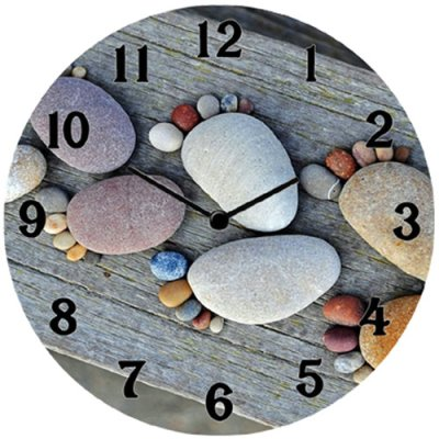 Wall / table clock 17 cm Stones