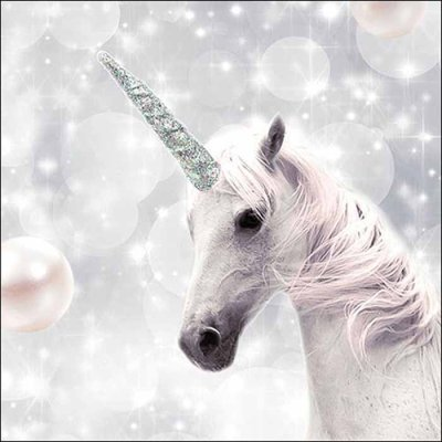 Napkin White Unicorn