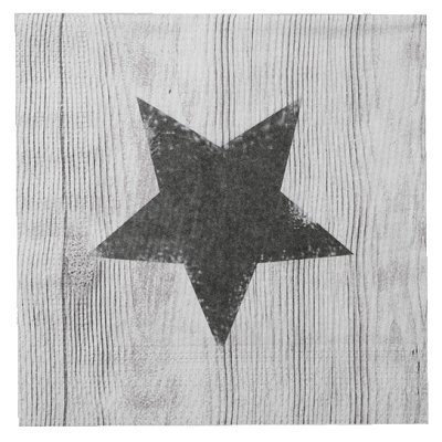 Napkin Star on wood