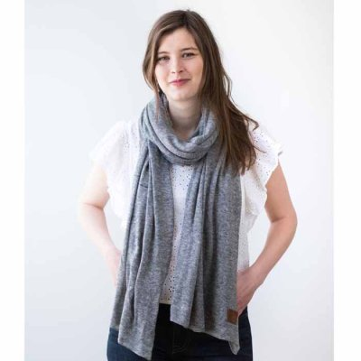 Cashmere Scarf Natural grey small