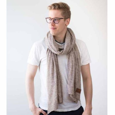 Cashmere Scarf Light Sand small