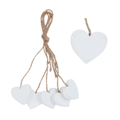 Hearts on a string white