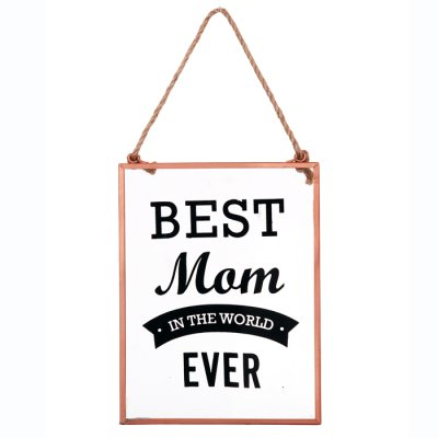 Glass sign Best Mom