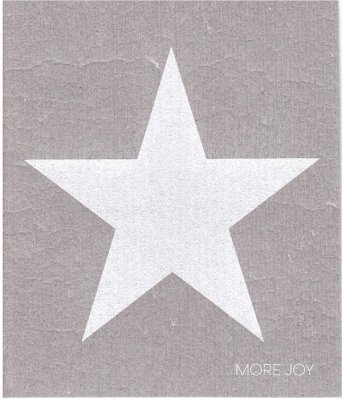 Star white dishcloth